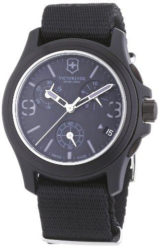 Victorinox Swiss Army Men's 241534 Original Chronograph Black Nylon Strap Watch