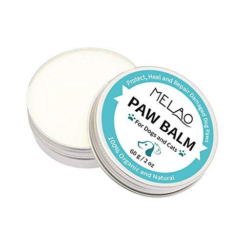 starshop Hundepfote und Nasenbalsam 60 ml - Beruhigen Sie sofort rissige juckende Haut und Pfoten Natürlicher Pfotenbalsam für Hunde Katzen
