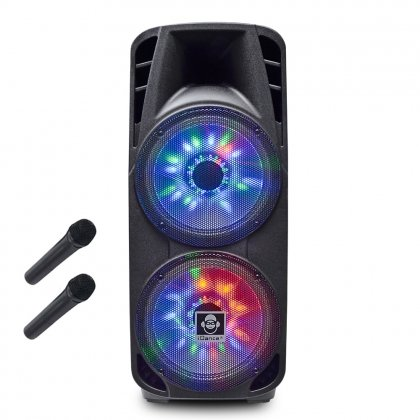 iDance Groove980 Bluetooth Party System mit Front LED Lightshow, Teleskopauszug und Rollen schwarz