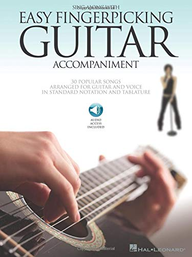 Sing Along With Easy Fingerpicking Guitar Accompaniment: Songbook, CD für Gitarre (Guitar Collection)