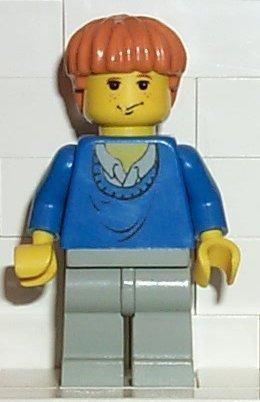 LEGO Harry Potter: Minifigur Ron Weasley mit blauem Pullover