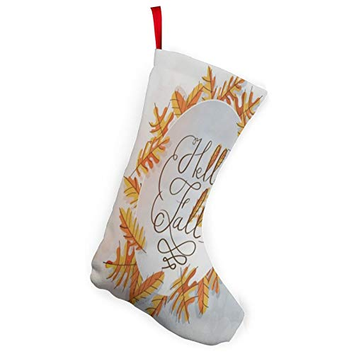 N\ A Vintage Thanksgiving Day Hello Fall Christmas Stockings 2 Pack 10' Large Xmas Stocking Rustic Christmas Tree Holiday Decorations for Country Family Home Fireplace Decor