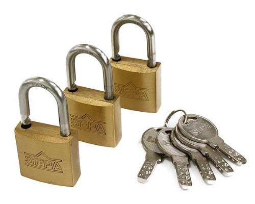 ハイロジック ディンプル南京錠 30ミリ 同一鍵3個 5本キー G-264