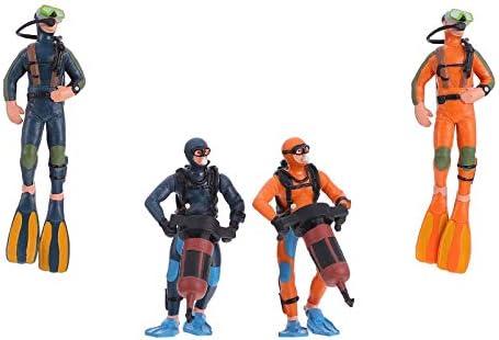 Hemoton 4Pcs Schaal Modellen Mensen Tiny Zwemmers Cijfers Mini Plastic Scuba Diver Beeldjes Speelgoed Voor Miniatuur Onderwater Zee Oceaan Sc¨nes Landschap Layout Zand Tafel Ornament