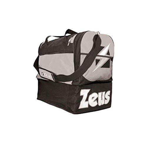 Zeus Herren Sporttasche Schultergurt Umhängetasche BORSA Delta (SCHWARZ-GRAU)