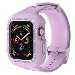 ❤Compatible Model & Size: Compatible with iWatch 38mm Series 3/2/1 and iWatch 40mm Series SE/6/5/4 Suitable for 5 - 8 inch wrists.( iWatch are NOT included. ) ❤Premium Material: The apple sport bands for apple iwatch 38mm/40mm are made of durable and...
