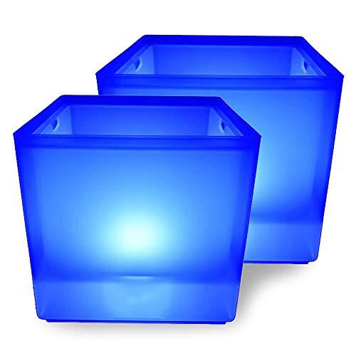 Cubo de hielo Cubo de hielo LED RGB CAMBIO CAMBIO CAMBIO DE CABEZADOR CERRANTE CERVEZA DE HIEL CUBO DE HIELO CUBO DE VINO DE ICE 3.5 L PARA FIESTA, HOGAR, BAR Para fiestas, bar y bar. (Color : 2pcs)