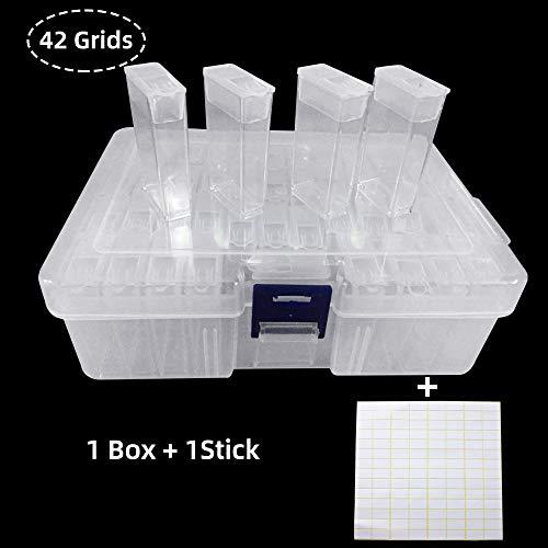 Souarts plastic dozen diamant borduurwerk sorteerdoos in stabiele bewaardoos gereedschaphouder sieradenorganizer diamond painting box 10/24/42/64