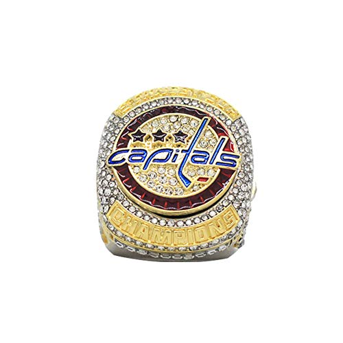 Fei Fei 2018 Eishockey Stanley Cup Washington Capitals Meisterschaftsring, Fan Copy Ring, Mode Kreativring,Without Box,11