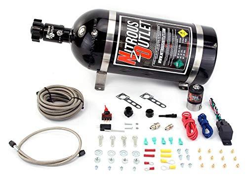 Nitrous Outlet Universal EFI Dry Single Nozzle System (35-200HP) (10lb Bottle)