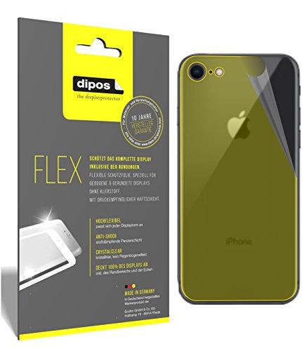 dipos I 2X Schutzfolie 100prozent kompatibel mit Apple iPhone SE (2020) Rückseite Folie I Full Cover 3D Bildschirmschutz-Folie