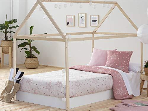 Confecciones Paula - Colcha Capa Stars - Cama 90 cm - Color Rosa