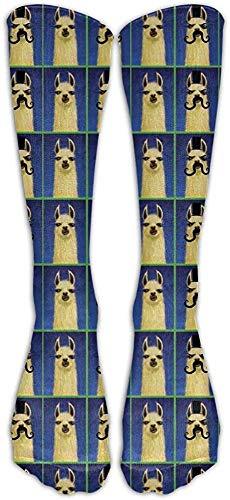 heefan Fun Llama With Bigote Classics Calcetines largos de tubo Calcetines deportivos Calcetines de ftbol para mujeres Adolescentes Nias Familia Amigos