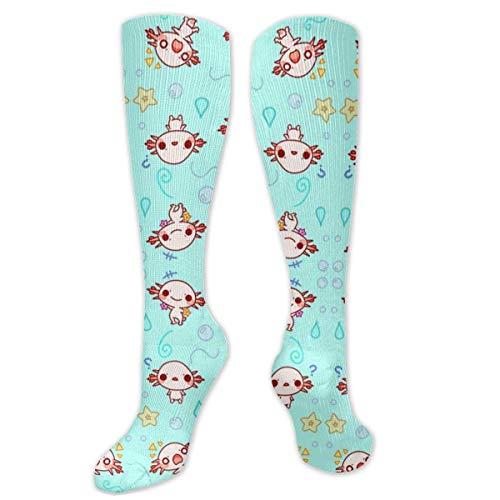 Nifdhkw Eloise The Axolotl Kawaii Cute Animal Compression Socks for Women & Men - Best Medical, Nursing, Travel & Flight Socks