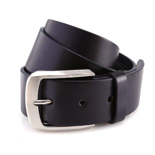 DonDon 4 cm breiter Ledergürtel Schwarz