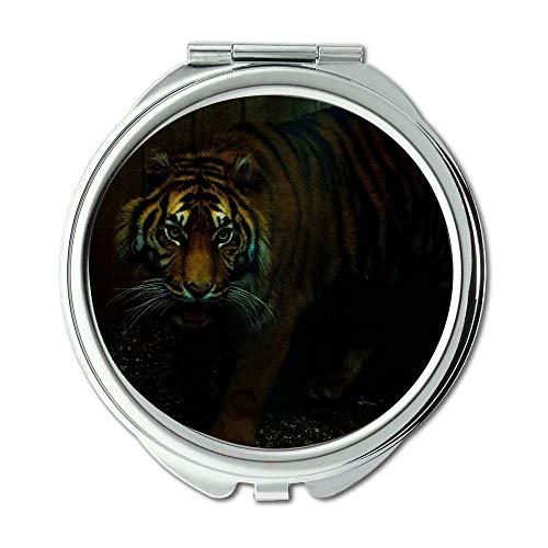Yanteng Spiegel, Schminkspiegel, aggressives Wesen, wütendes Tier, Taschenspiegel, tragbarer Spiegel