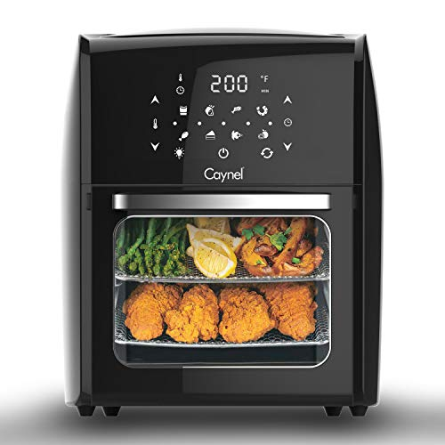 Air Fryer Oven, 12.7 Quart Air Fryer 1700W, 8-in-1 Oil-less Electric Air Fryer with LED Digital Touchscreen,Roast, Dehydrate, Bake & More, Large Capacity,Accessory Kit and Recipe Book Included