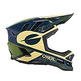 O'NEAL | Mountainbike-Helm | MTB Downhill | Dri-Lex® Innenfutter, Ventilationsöffnungen für Kühlung, ABS Außenschale | Blade POLYACRYLITE Helmet ACE | Erwachsene | Blau Beige Grün | Größe L