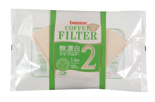[2-4] bonmac cups unbleached bamboo blended filter CF-200BAM 100 sheets x 10 pack # 858512 (japan import)