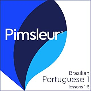 Pimsleur Portuguese (Brazilian) Level 1 Lessons 1-5 audiobook cover art