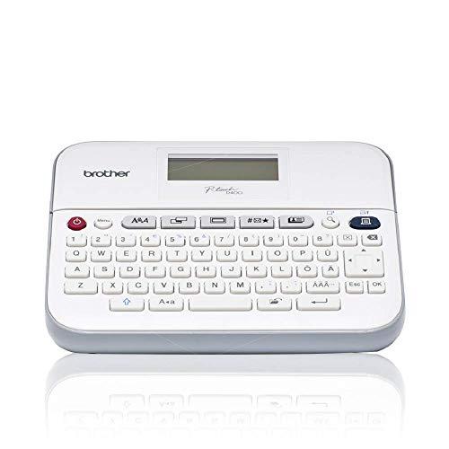 Brother PT-D400 Beschriftungsgerät, P-Touch-Beschriftungsgerät, QWERTY-Tastatur, Schreibtischgerät
