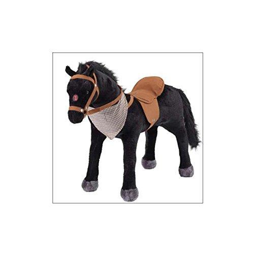 Peluche à monter Noir cheval