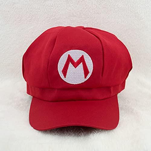 Sombrero de Super Mario Hip Hop Anime Super Mario Hat Cap Luigi Bros letra impresa Cosplay disfraz de béisbol para adultos sombreros FC juego regalo para chico