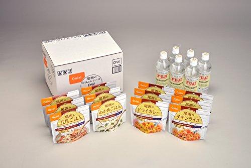 防災非常食 アルファ米 尾西のごはんシリーズ DW (和風・洋風組合せ、保存水付) 12食セット