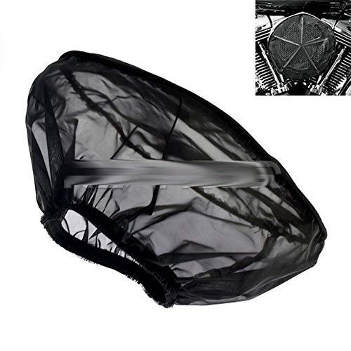 Abdeckung und Zierleisten, schwarz, wasserdicht, Regensocke für Harley Touring Sportster 883 1200 Softail Dyna Road King Electra Glide Fit für Luftfilter-Reinigungsset (Regensocke)