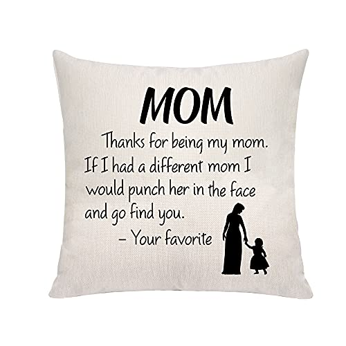 VAVSU Funny Mom Gifts Thanks for Being My Mom Best Mom Gifts from...
