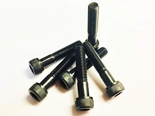 M10 x 50 Skt Cap, schwarz, 1,5 Teilung, hochfeste Schrauben, 12.9, 6 Stück, DIN912