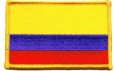 The Flag of COLOMBIA Patch parche, Superior Quality Iron-On / Saw-On Embroidered Patch parche - Each one is individually carded and sealed in a professional retail package - 3.5