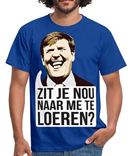 Spreadshirt Zit Je Nou Te Loeren Koningsdag Willem Mannen T-shirt