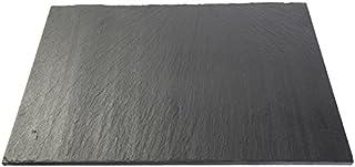Izasur-Spain Pizarra Rectangular, Piedra, Negro, 30x20x3.6 cm, 6 Unidades