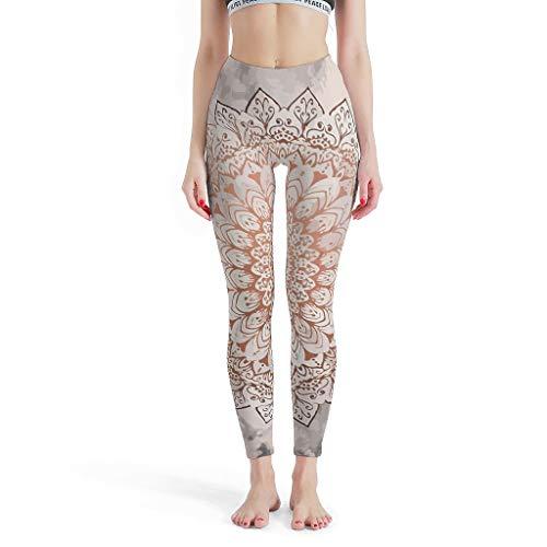 XJJ88 -Etnische stijl Womens Sport Broek, Leggings Rose Night Mandala Gedessineerd Zomer Capri Panty Capris voor Vrouwen Casual Zomer Petite