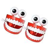 Tomaibaby - 2 giocattoli a vento in plastica per chiacchierare i denti giocattolo per l'educazione precoce giocattolo per saltare i denti giocattoli per Halloween