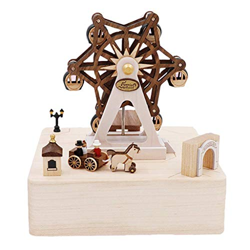 ZCX Jeancard Wooden Music Box Music Box Ferris Wheel Girls Boys Birthday Gifts to Send Friends Married Newlyweds Musical Boxes