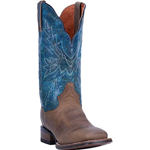 "Laredo Womens Pasadena Square Toe Western Cowboy Dress Boots Mid Calf Mid Heel 2-3"" - Tan - Size 8 B"