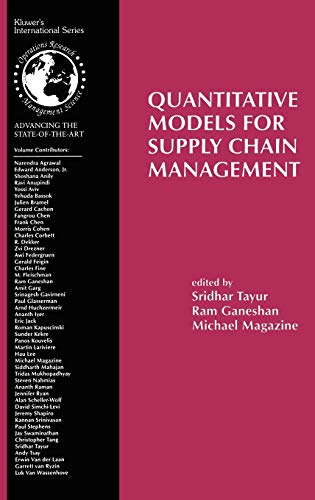 Quantitative Models for Supply Chain Management (International Series in Operations Research & Management Science, 17)の詳細を見る