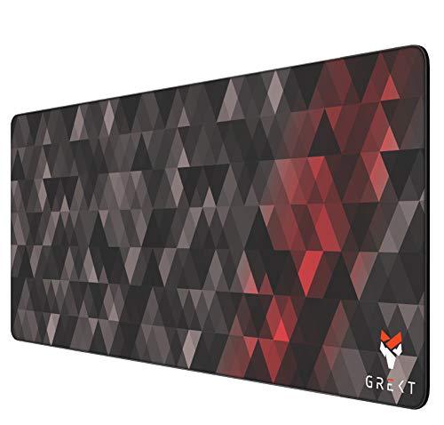 GREKT XXL Gaming Mousepad 800x300 mm | Geräusch hemmend | verbessert Präzision und Geschwindigkeit | Antirutschmatte | XXL Mauspad Gaming | Komfort Mauspad | 3mm Höhe | Schwarz/Black