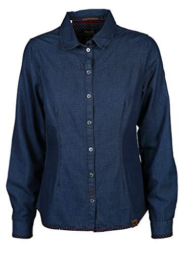 s'questo Damen Bluse Größe 36 EU Blau (blau)