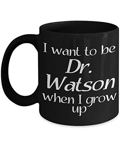 N\A Taza de Watson - Inspirada en Las Historias de Sherlock Holmes de Sir Arthur Conan Doyle - Idea de Regalo para Detectives Aficionados y Ratones de Biblioteca - Taza de café y té