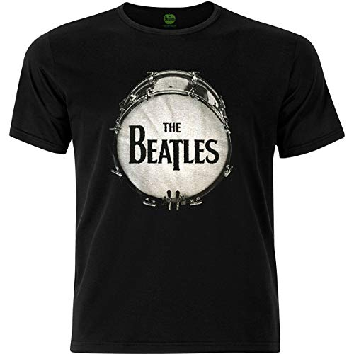 Rockoff Trade The Beatles BLKL Drum BLK Caviar Camiseta, Negro (, M para Hombre