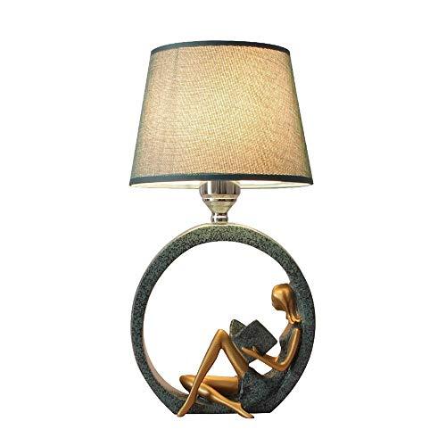SYLOZ CABECERA E27 romántica Creativa Personalidad cálida Simple nórdica Estilo de Tabla Luz Lámpara de Mesa Moderna Simplicidad LED
