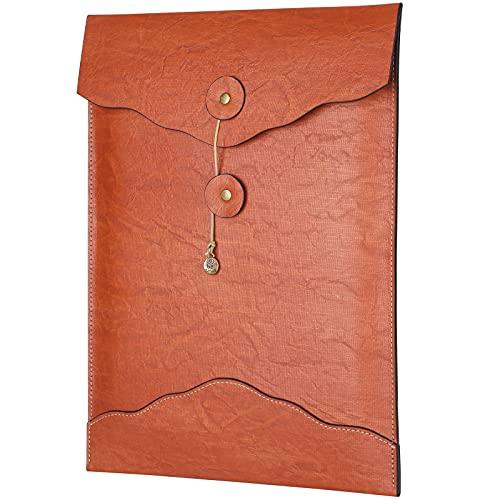 Portadocumenti A4 in pelle PU Portadocumenti per documenti allargati fino a 120 fogli...