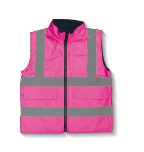 安全・サイン8 安全ベスト ベストジャケット Sサイズ 蛍光ピンク CW505-PS