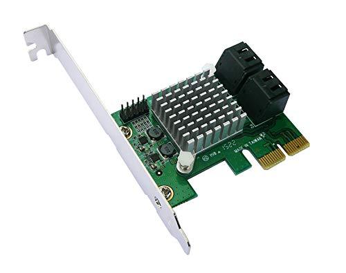 Kalea-Informatique–Scheda controller PCIe SATA 3.0–4porte–Raid 0/1/10–Chipset Marvell 88SE9230–Gamma professionale/Componenti alta qualità–Pilota preinstallati per Windows/Mac/Linux.