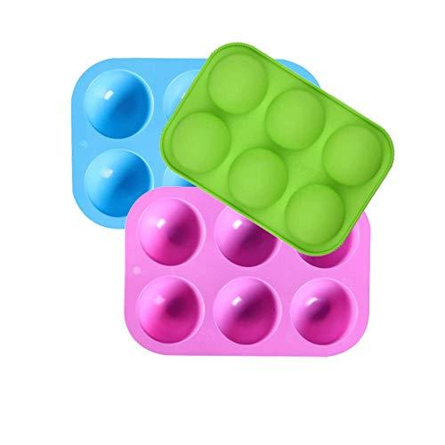Fexinshern 3 piezas/paquete 6 Agujeros Jyego de Moldes de Si