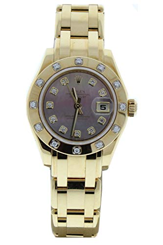 Rolex-18k-Yellow-Gold-Ladys-Masterpiece-80318-Factory-Dark-Mother-of-Pearl-Diamond-Dial-12-Diamond-Bezel-Certified-Preowned