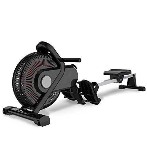BZLLW Rowing machine, Rowing Machine Foldable Air Rower Machine for Home Use   Advanced Dual Resistance System with 8 Resistance Levels, LCD Console with Training Programs